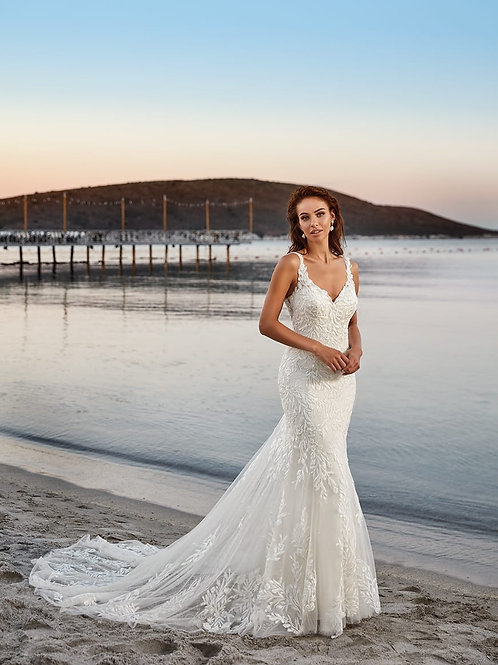 Jasmine DR2008 EddyK Fit & Flare Wedding Dress- In Stock