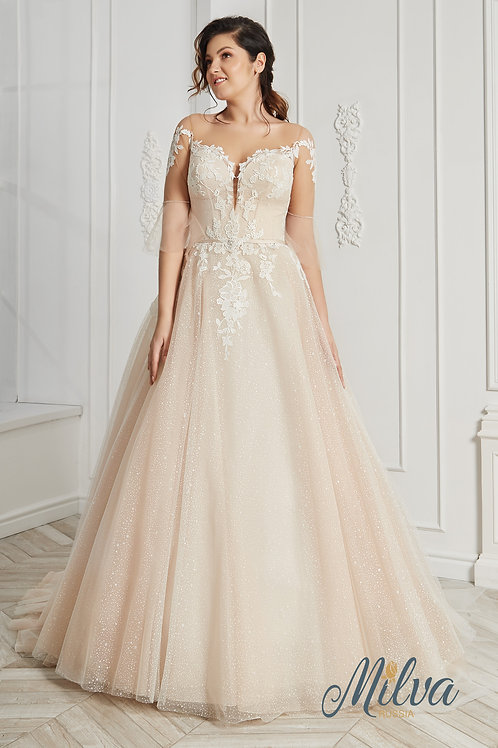 Antonia Milva Ballgown Wedding Dress- To Order