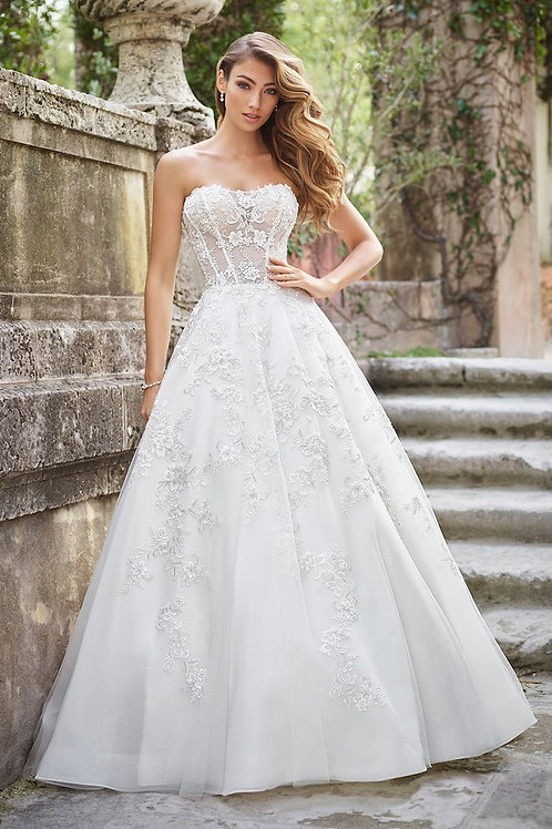 Flora 218227 Ballgown Martin Thornburg Wedding Dress- In Stock