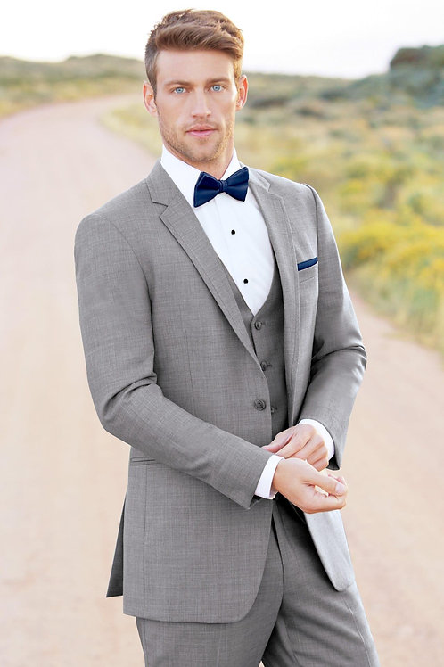 Allure Men Heather Grey Clayton Suit