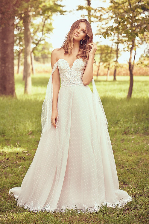 66082 Lillian West A-Line Wedding Dress- To Order