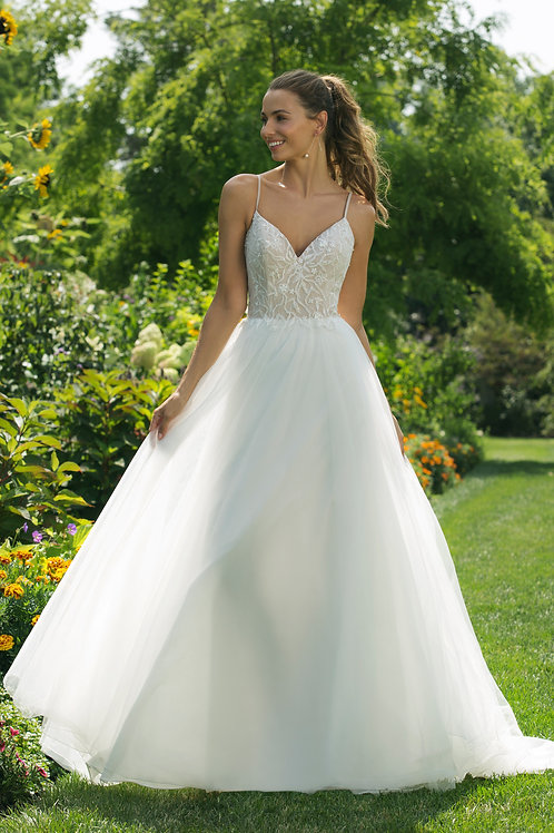 11024 Justin Alexander A-line Wedding Gown- IN STOCK