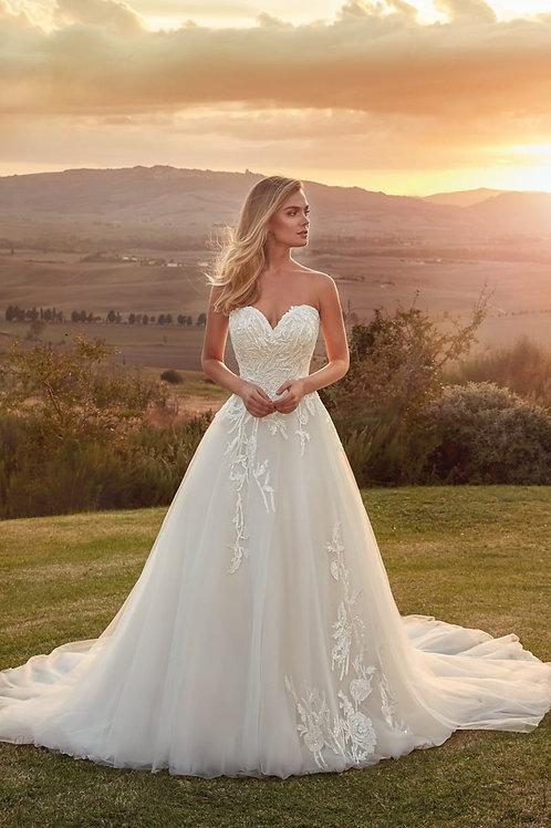 Zara EK1334 Eddy K Ballgown Wedding Dress- In Stock