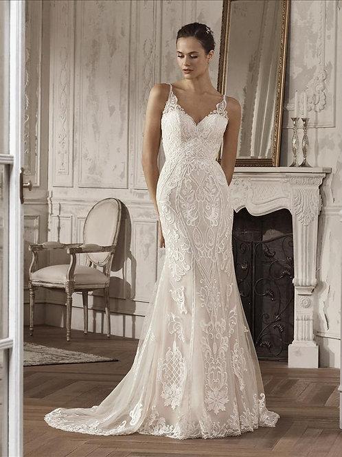 Amira Pronovias Fit & Flare Wedding Dress- IN STOCK