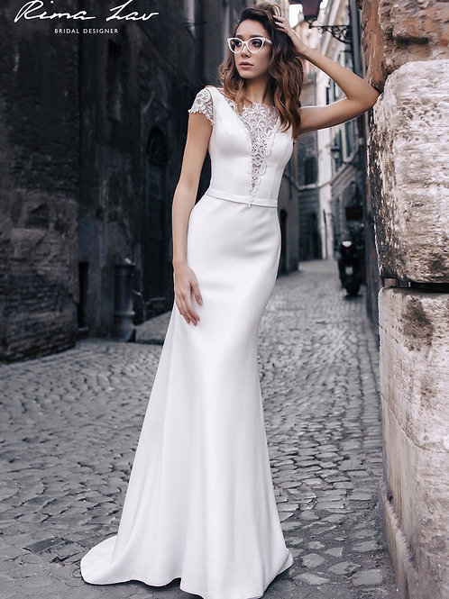Milva Rima Lav Sheath Wedding Dress- To Order