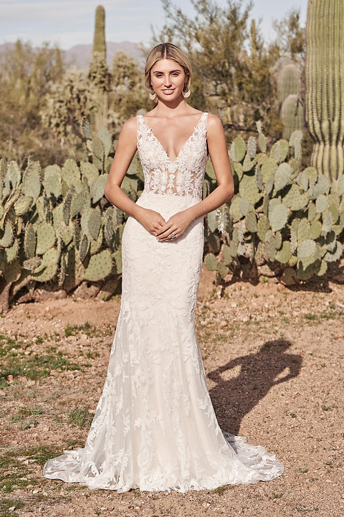 66162 Lillian West Fit & Flare/ A-Line Wedding Dress- To Order