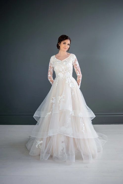 Barbra MC7211 MBC by Barbie Ballgown Wedding Dress- To Order