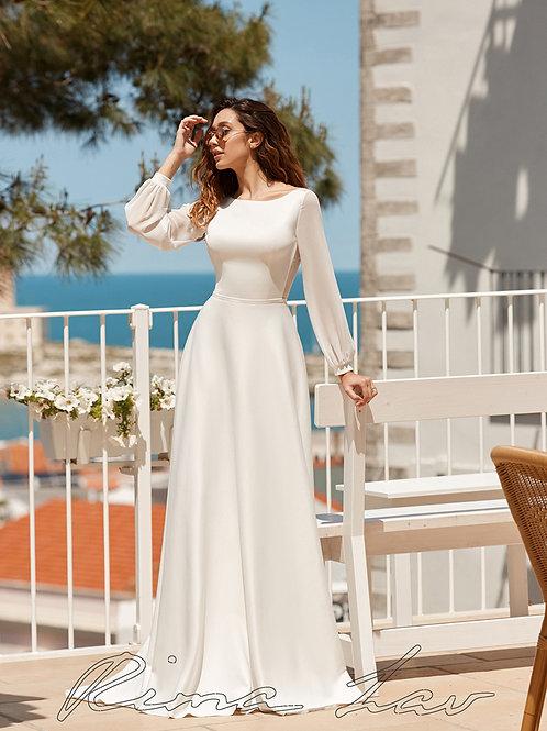Greta Rima Lav A-Line Wedding Dress- To Order