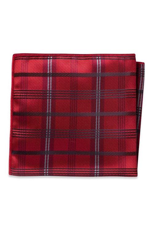 Apple Red Plaid Pocket Square