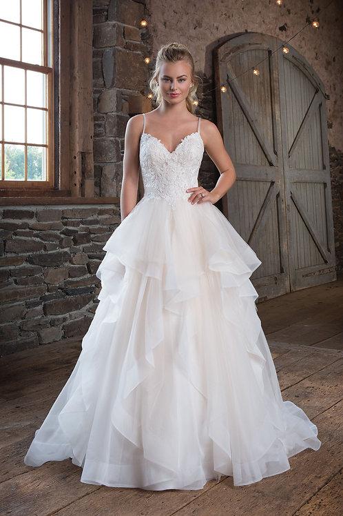 1123 Justin Alexander Ballgown Wedding Gown- IN STOCK