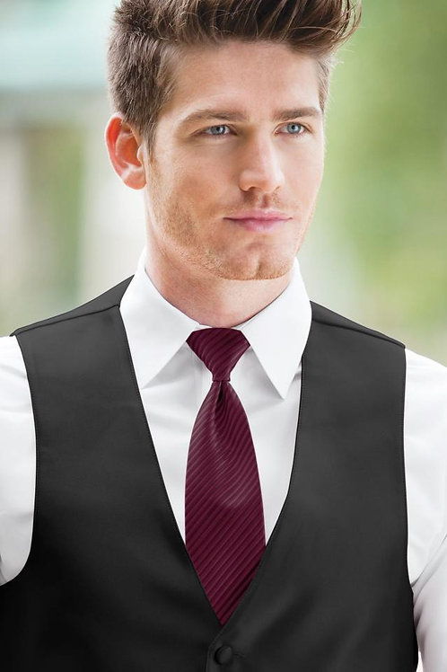 Striped Expressions Cranberry Windsor Tie