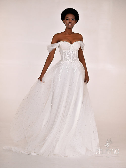Eliana Belfaso A-Line Wedding Dress- To Order