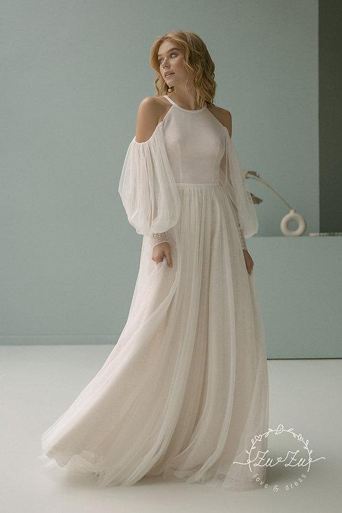 Susan Without Embellishment Zuzu A-Line Wedding Dress- To Order