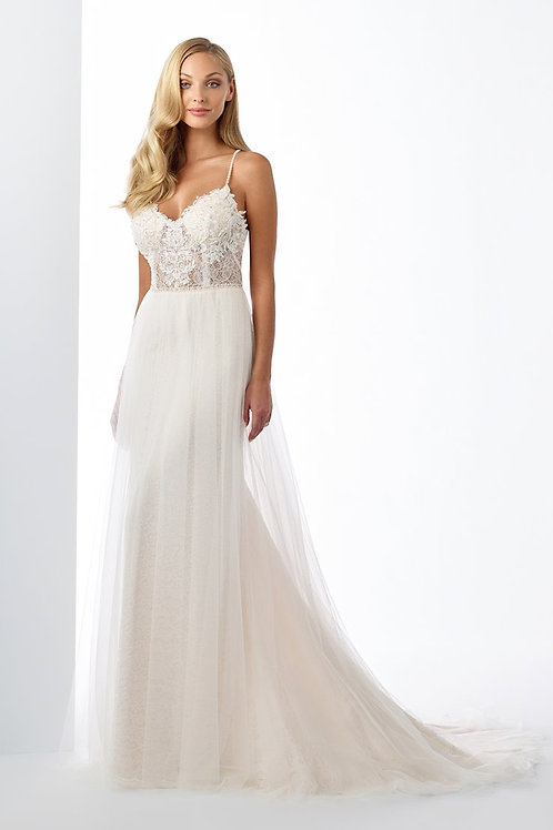 119118 Enchanting A-line Wedding Dress- To Order