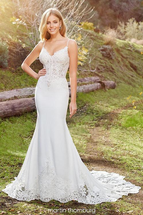 Linden 220277 Martin Thornburg Fit & Flare Wedding Dress- To Order