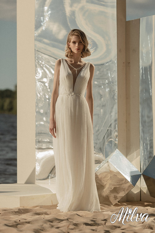Ivy Milva Sheath Wedding Dress- To Order