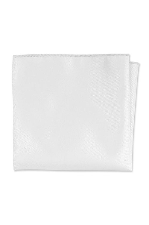 Expressions White Pocket Square