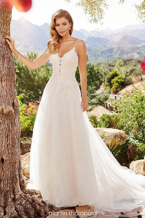 Bryce 120251 Martin Thornburg A-Line Wedding Dress- To Order