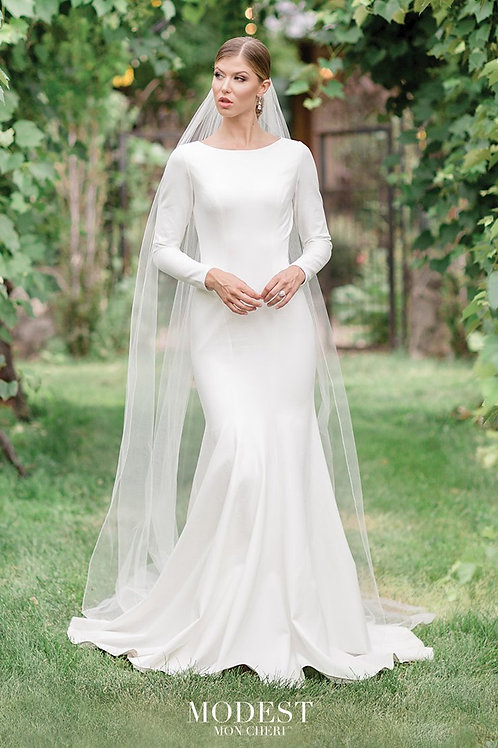 TR11988 Modest by Mon Cheri Fit & Flare Wedding Dress- To Order