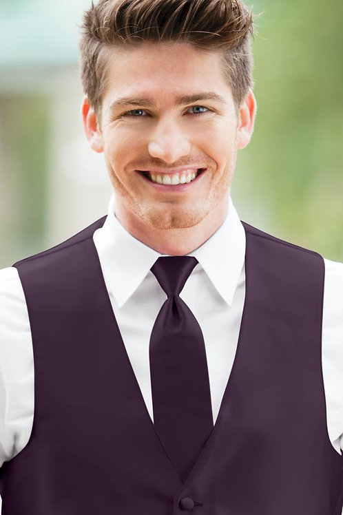 Solid Expressions Plum Windsor Tie