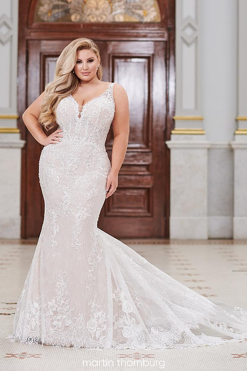 Torrance 220268W Martin Thornburg Fit & Flare Wedding Dress- To Order