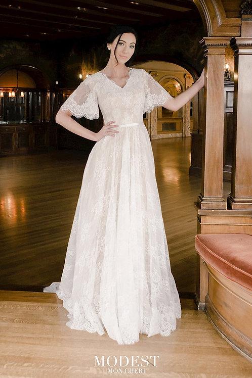 TR22058 Modest by Mon Cheri A-line Wedding Dress- In Stock