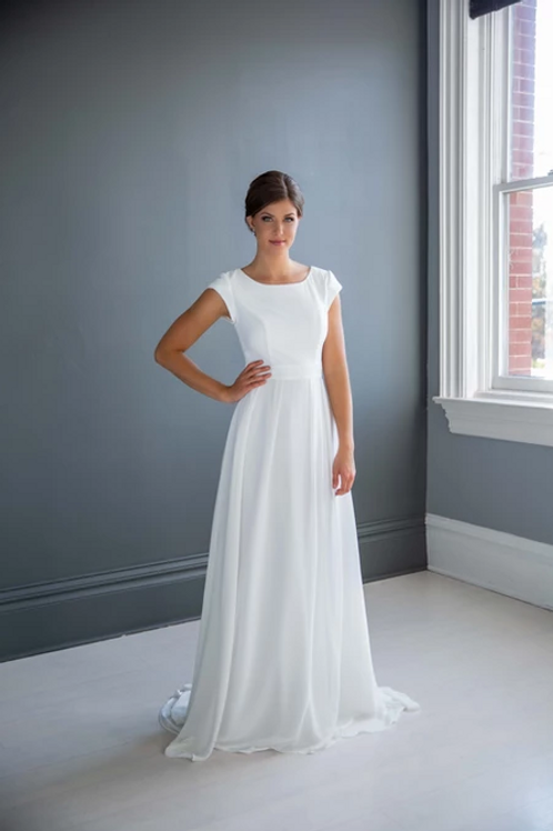 Faith MC7231 MBC by Barbie Sheath Wedding Dress- To Order