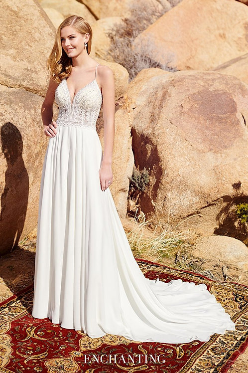 220104 Enchanting Sheath Wedding Dress- To Order