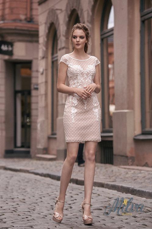 Jude Milva Fitted Short Wedding Dress- To Order