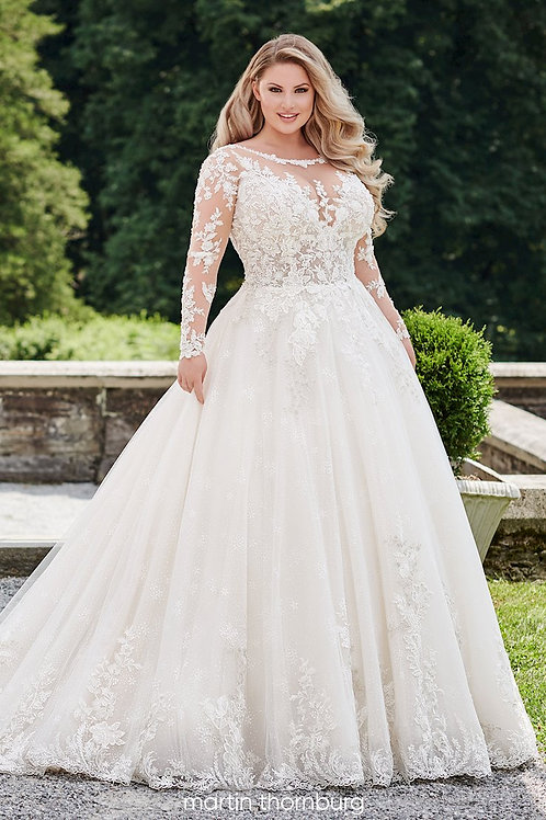 Opal 120233W Martin Thornburg Ballgown Wedding Dress- To Order