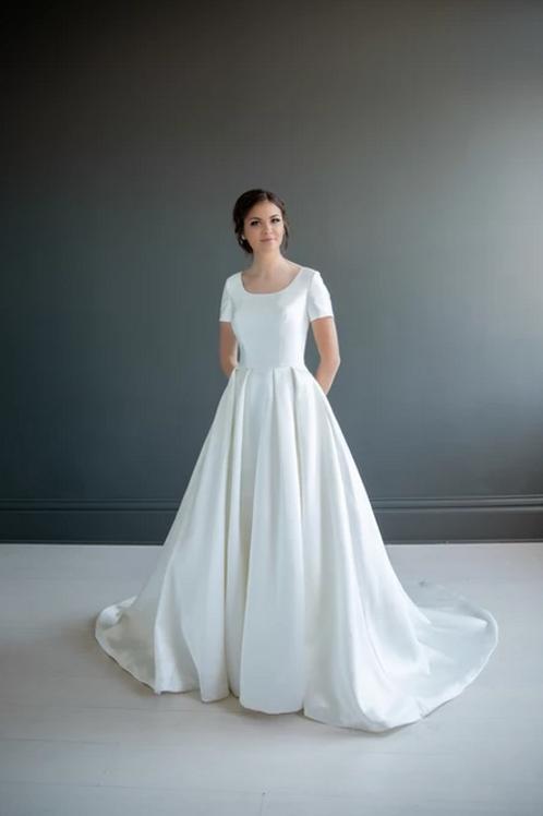 Angela MC7207 MBC by Barbie A-Line Wedding Dress- To Order