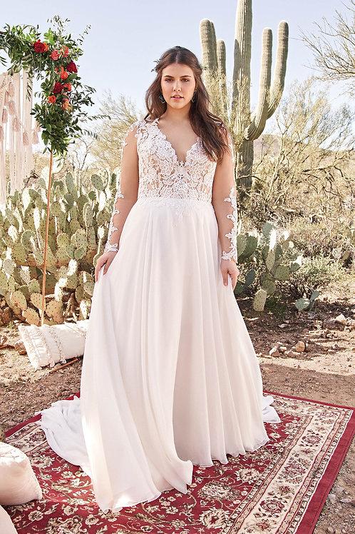 6422 Lillian West Sheath Wedding Dress- In Stock