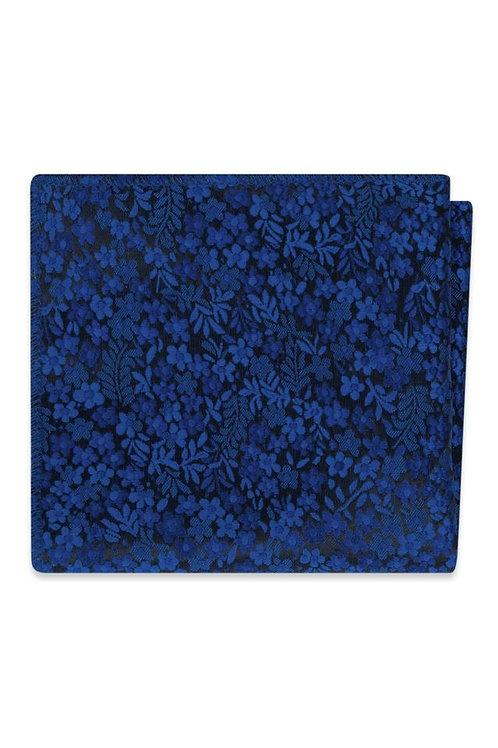 Royal Blue Floral Pocket Square