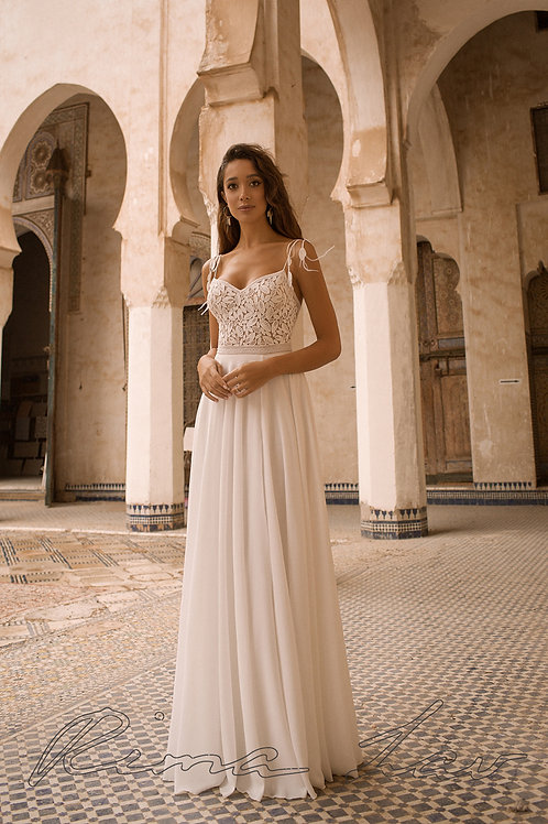 Thelma Rima Lav Sheath Wedding Dress- In Stock