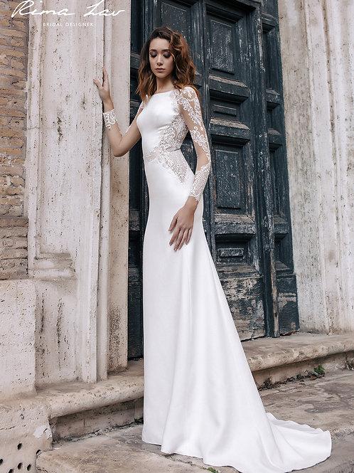 Cher Rima Lav Sheath Wedding Dress- To Order