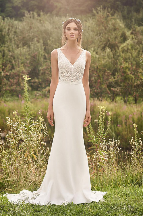 66123 Lillian West Fit & Flare Wedding Dress- In Stock