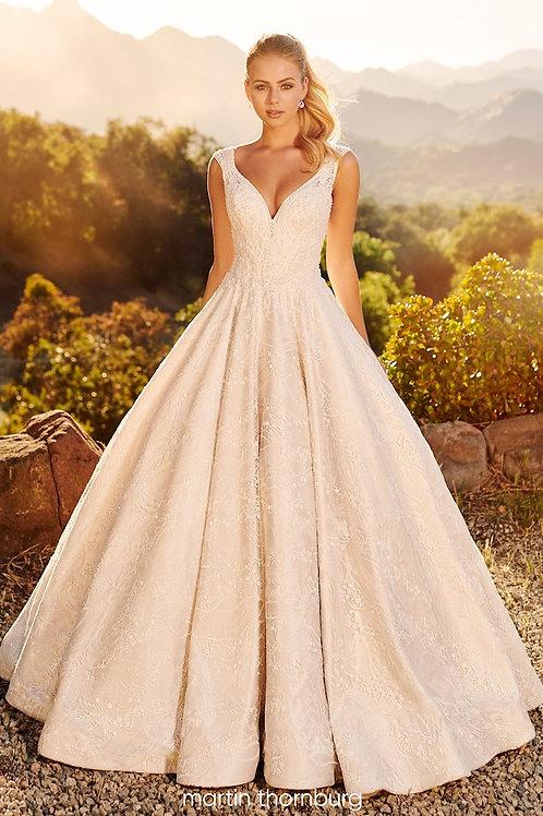 Marcela 120255 Martin Thornburg Ballgown Wedding Dress- In Stock