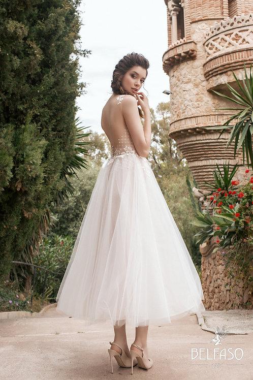 Alia Belfaso Aline Wedding Dress Short Dress T-Length Wedding Dress