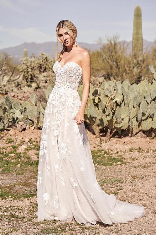 66171 Lillian West A-Line Wedding Dress- In Stock