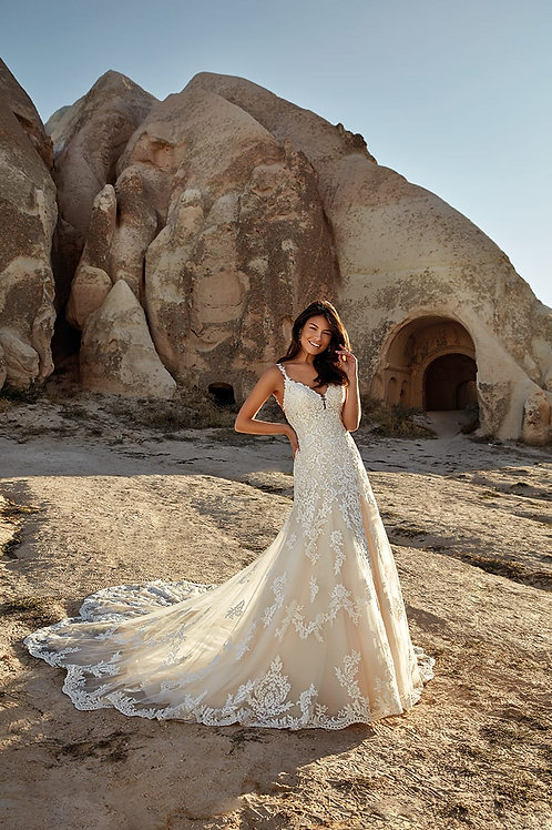 Evelyn DR2019 Eddy K A-Line Wedding Dress- To Order