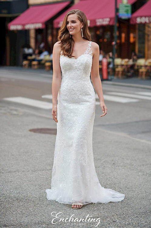120177 Enchanting Sheath Wedding Dress- To Order