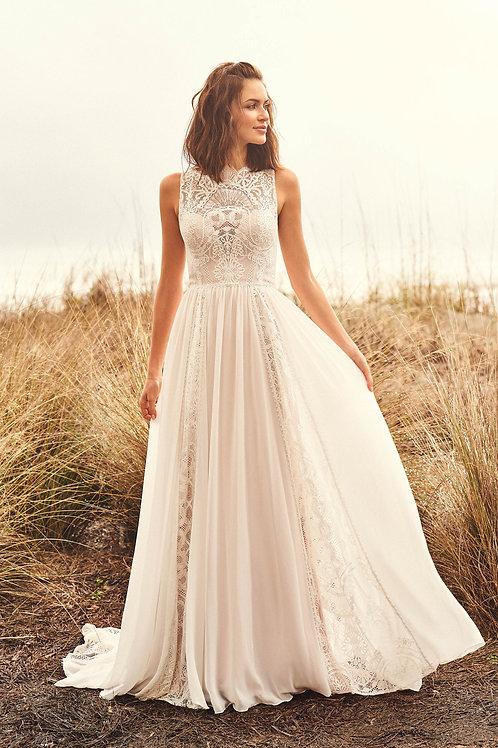 66109 Lillian West A-Line Wedding Dress- In Stock