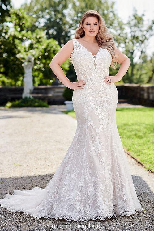 Claire 120243W Martin Thornburg Fit & Flare Wedding Dress- To Order