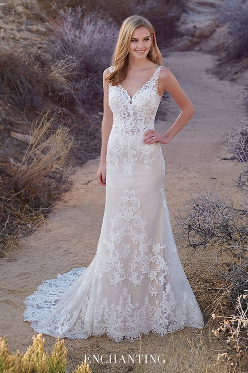220110 Enchanting A-line Wedding Dress- In Stock