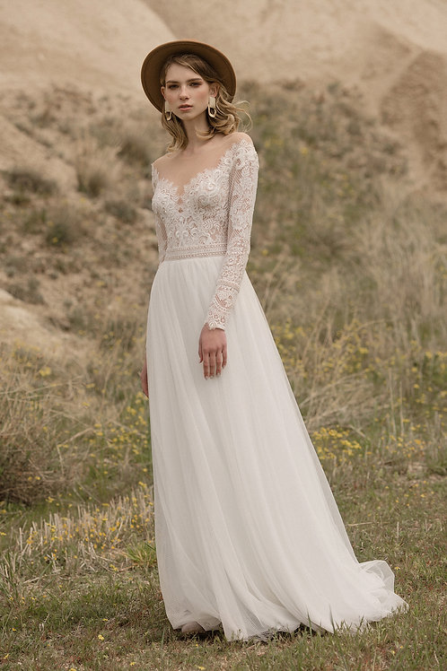 Ruby Milva Sheath Wedding Dress- To Order