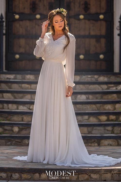 TR11977 Modest by Mon Cheri Sheath Wedding Dress-In Stock