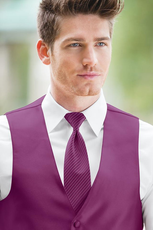 Striped Expressions Raspberry Windsor Tie