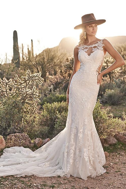 6485 Lillian West Fit & Flare Wedding Dress- In Stock
