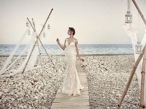 Aires EddyK Trumpet Wedding Dress-In Stock