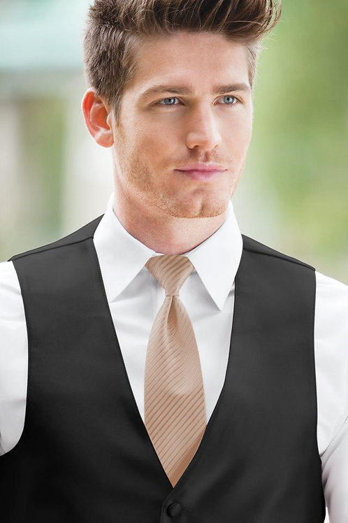 Striped Expressions Rose Gold Windsor Tie